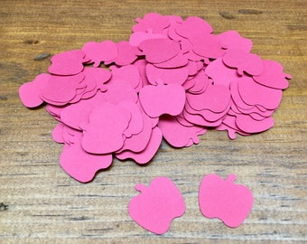 Red Apple Confetti - Apple Punches - Confetti Punches - Apple Diecuts - Scrapbooking Embellishments - 100 Count