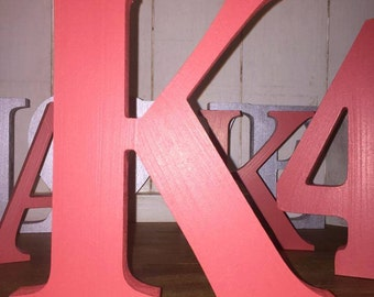 Red Wooden Letters, Numbers and & Signs - 20cm Large Letters - Large Red Letters and Ampersands, Big Letters