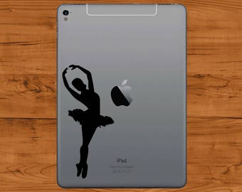 Ballerina Decal Tablet Sticker - Fits most tablets!