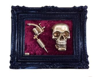 Tattoo Machine Skull Frame