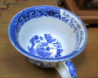 Buffalo semi Vitreous pottery Large  Cuppe O'Kindnesse collectible cup Buffalo New York 1901-02 Historic Company Robert Burns Quotation