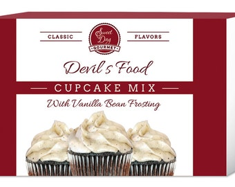 Devil's Food Cupcake Mix w/Vanilla Bean Frosting