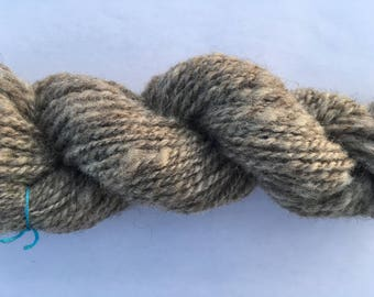 74 yards of Hand spun elephant grey yarn
