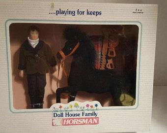 Horsman Doll House Family - Scott & Horse 1996