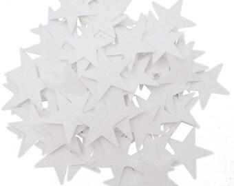 "85 pc White 1.5"" Felt Star Stickers"