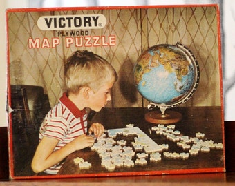Wooden Victory jigsaw of England and Wales