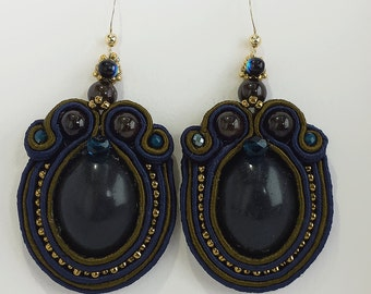 Soutache earrings. Handmade in Italy