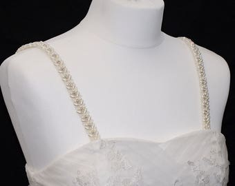 Beaded Attachable Bridal Straps - HARRIET