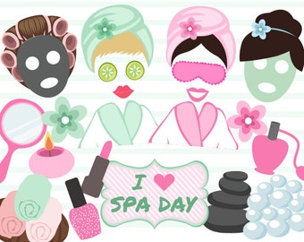 Printable Spa Party Photo Booth Props, Digital Spa Girl Photo Booth Props, Digital Spa Day Photo Booth Props, Girl Spa Party Props 0183