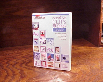 Creating Keepsakes Creative Clips and Fonts for Winter Memories Software CD, new and sealed, Clip Art