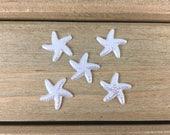 White Starfish Hair Bow Center, White Starfish cabochon, DIY Hair Bow Supplies, DIY Headband Center, Starfish Flatback