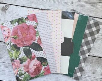 Vintage Roses - Planner Dividers- Personal Dividers - Divider Set