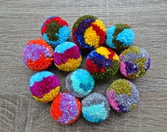 Kawaii colorful pom pom pattern japanese craft book pom for Pom pom craft patterns