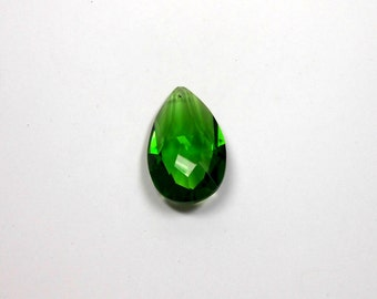 1 Crystal Emerald Green Teardrop, 50mm, Crystal, Emerald, Green, Teardrop, Pendant, Bead Supply, Jewelry Making, Supplies, Craft Supply, Bea