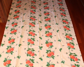 Shabby Chic Tablecloth- Apples and Berries