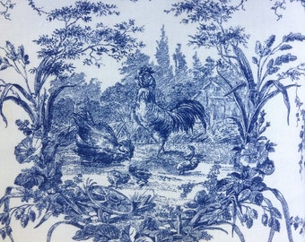 Vintage WAVERLY FRENCH TOILE Pillow French Country Cottage Prairie Farmhouse Chic