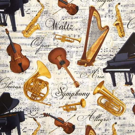 Musical Instruments Fabric French Horn Fabric C4828