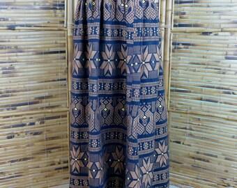 1960s/1970s Woven Guatemalan Maxi Skirt - Extra Small