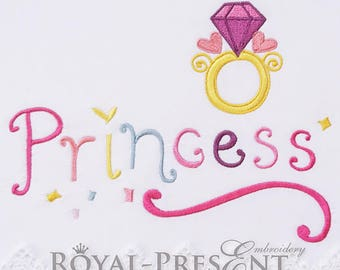 Machine Embroidery Design Princess