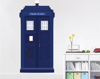 Tardis Wall Decal Doctor Who Wall Vinyl Removable Kids Bedroom Doctor Who Wall  Decal Bigger On The Inside Dalek Wall Art, s71
