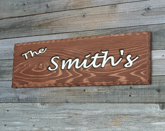 custom wood sign family name sign 3 d lettering rustic wood sign carved wood sign cedar sign custom outdoor sign
