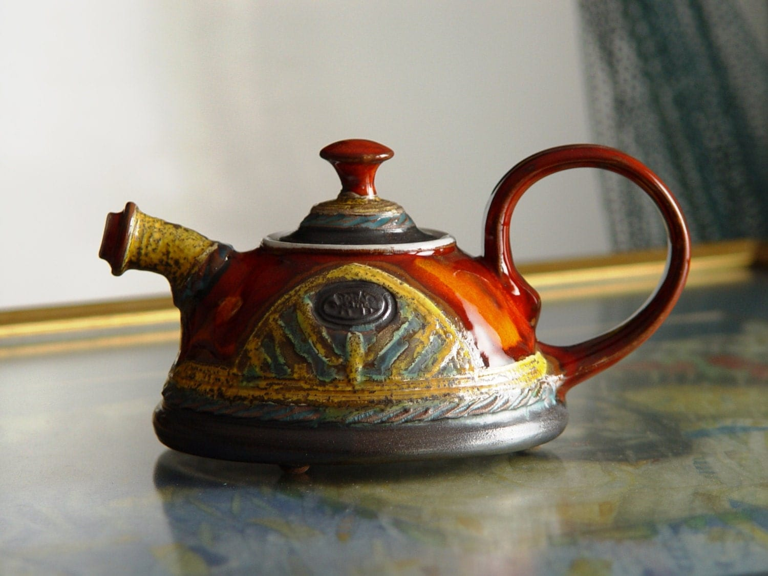 Cute And Tiny Handmade Teapot Pottery Tea Pot For One Sweet