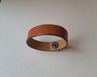 Brown Leather women's bracelet bangle wristlet armlet band -Womens Leather Bracelet - Women Leather Wrist Band