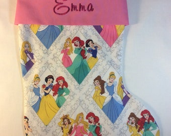 Personalized Christmas Stocking-Disney Princesses