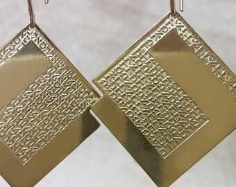 72 names of God - Gold fielld earings - Kabbalah earrings