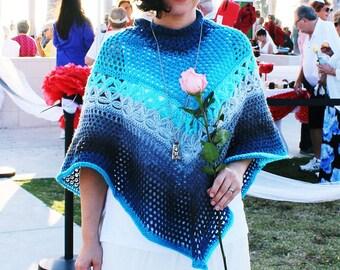 Crochet Poncho Pattern, Yarn Cake Crochet Pattern
