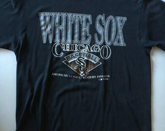 Chicago White Sox Vintage T shirt Black L 1993