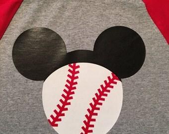 Mickey Mouse Baseball Shirt