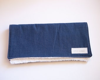 Blue Denim Burp Cloth