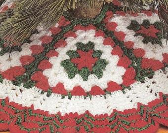 Crochet Christmas Tree Skirt vintage crochet instant download pattern