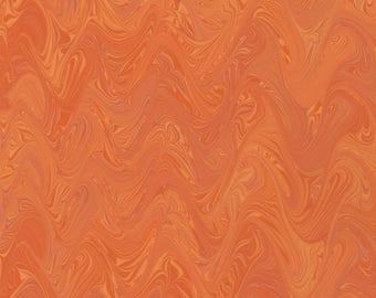 Hand Marbled Paper 19x24 (An Orange Sunset)