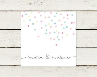 Wedding invitation | Square | Confetti | No 1