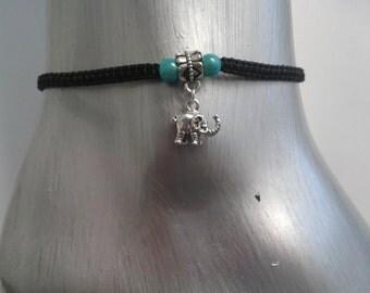 Elephant anklet - ankle bracelet - anklet - lucky charm - elephant charm - elephant jewellery - elephant jewelry - summer anklet