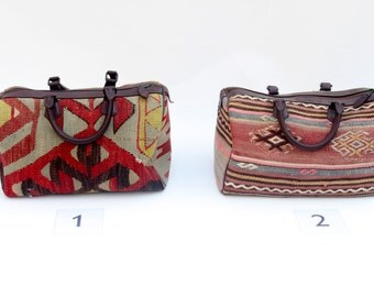 Baby Duffle Bag, Kilim Duffle bag, Mini Duffle Bag, Bowling Bag, Tribal, Bohemian, Rustic, Boho Chic Bag