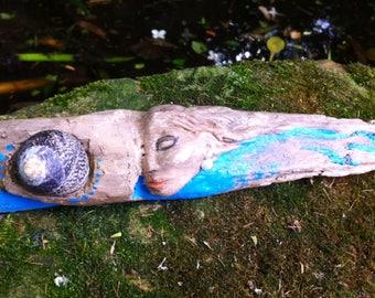 SALE NOW ON ** Driftwood Water Spirit by Stuart Clark , driftwood sculpture,goddess,woman spirit,shapingspirit carving,Goddess,water goddess