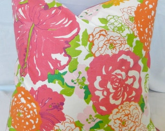 Lee Jofa Heritage Floral By Lilly Pulitzer / Decorative Throw Pillow Cover. Accent Pillow Cover / 20x20