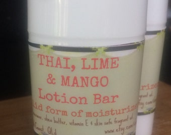 Thia Lime & Mango Lotion Bar, Body Moisturiser