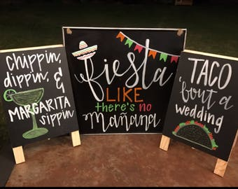 Fiesta party signs