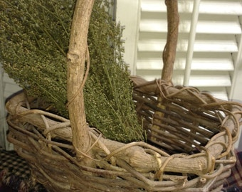 Country twig basket