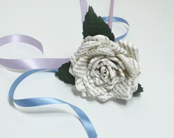 Flowergirl wand, flower wand - Made to order in your choices of paper type/plain colours to fit your theme