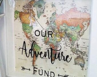 Adventure fund money saving frame
