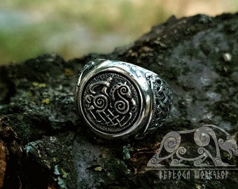 Sleipnir Ring (Odin's steed ring) Viking Ring Mammen Style Sterling Silver Ring Scandinavian Norse Viking Jewelry