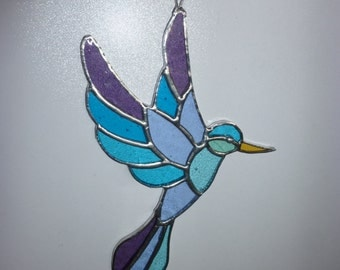 Stained Glass Bird suncatcher (A)
