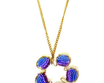 Sushobhan Purple beads wired Necklace