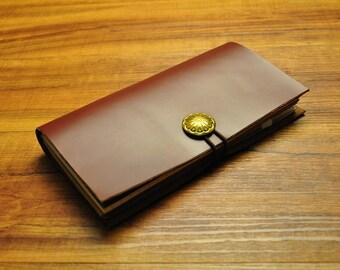 Larger Moleskine leather cover / Moleskine Classic notebook cover organizer / larger size Moleskine leather portfolio case