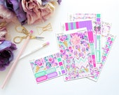 Blossom -- Horizontal Weekly Kit-- Matte Planner Stickers